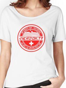 Dune Sea Lifeguard Aurebesh [Red Normal] Women's Relaxed Fit T-Shirt