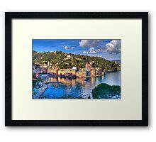 portofino paint five Framed Print