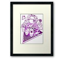 Spaceman lost in deep Cosmos Framed Print