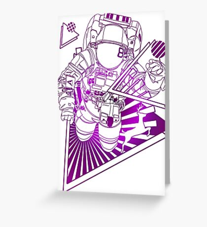 Spaceman lost in deep Cosmos Greeting Card