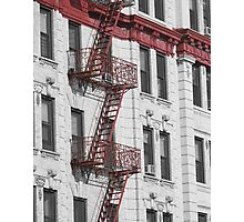 Brooklyn Fire Escapes Photographic Print