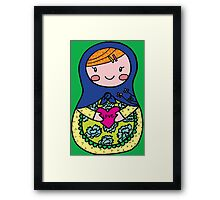 Love Russian Doll with Red Hair Framed Print