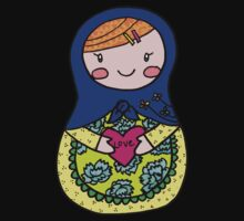 Love Russian Doll with Red Hair Kids Clothes