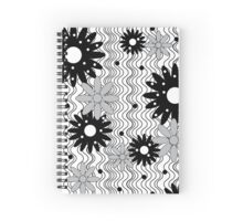 Flowers on Waves Spiral Notebook