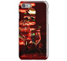 White camellia at sunset light II iPhone Case/Skin