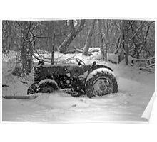 tractor scene Poster