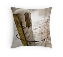 Barbed & Bitting Winter Throw Pillow