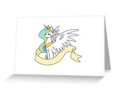 Princess Sun Butt - Plain Banner Version Greeting Card