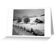 snow scene Greeting Card