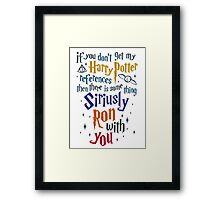 Harry Potter References Framed Print