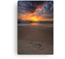 Sunshine Beach Footprint Canvas Print