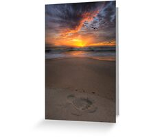 Sunshine Beach Footprint Greeting Card