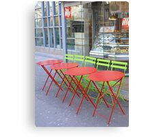 Tables and chairs: complementary! Canvas Print
