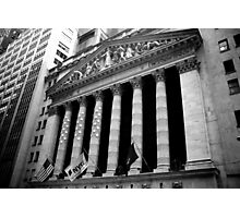 Wall Street's Bold Stand Photographic Print