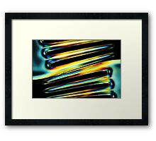 *prongs* Framed Print