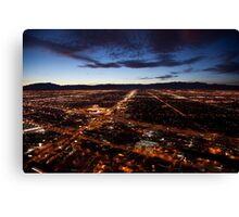 View of Las Vegas at night Canvas Print