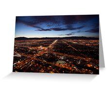 View of Las Vegas at night Greeting Card