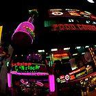 Las Vegas Strip at night by Leila Cutler