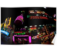 Las Vegas Strip at night Poster