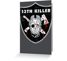 13th Killer Greeting Card