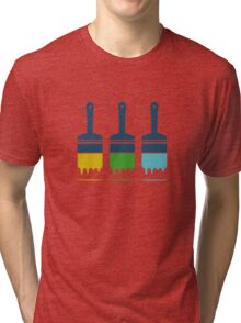 color brushes Tri-blend T-Shirt