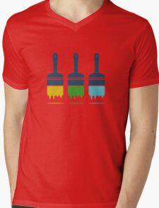 color brushes Mens V-Neck T-Shirt