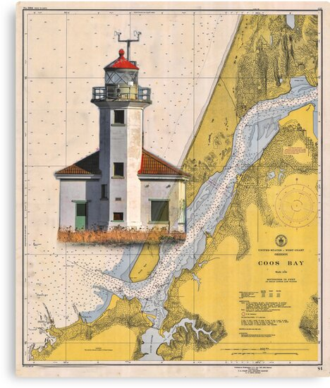 Cape Arago Lighthouse Charted by Randall Scholten