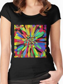 Confetti Flower   Women's Fitted Scoop T-Shirt
