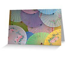 Asian Umbrellas 2 Greeting Card