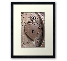 Heart Key Hole France Framed Print