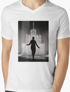 Fountain in Ginza, Tokyo Mens V-Neck T-Shirt