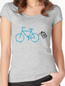 paint the bike Women's Fitted Scoop T-Shirt