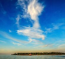 Angel in the sky ~ Landscape Horizontal by Glenn Feron