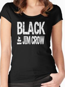 Black is the new Jim Crow Women's Fitted Scoop T-Shirt