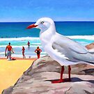 Seagulls on watch by Guntis Jansons