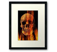 Flaming Skull Framed Print