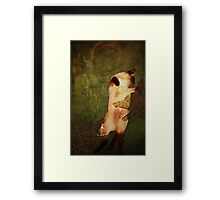 A Smart Cat Committed Suicide Framed Print