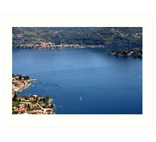 Orta Lake from above Art Print