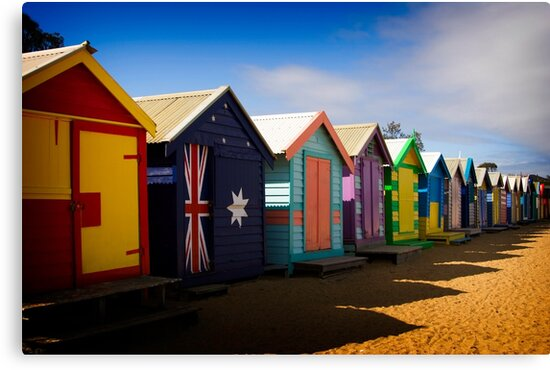 Bathing Boxes by Andrew Brown