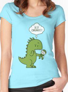 Organic Dinosaur Women's Fitted Scoop T-Shirt