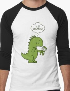 Organic Dinosaur Men's Baseball ¾ T-Shirt
