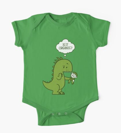 Organic Dinosaur One Piece - Short Sleeve