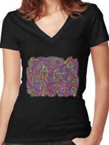 Chick Net Women's Fitted V-Neck T-Shirt