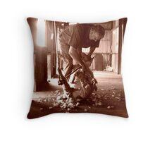 The Lone Shearer Throw Pillow