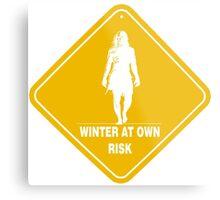 Winter At Own Risk Metal Print