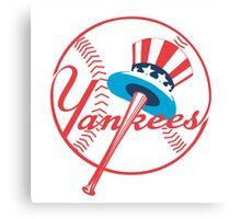 New York Yankees logo Canvas Print