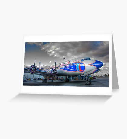 Eastern Airlines DC-7B Greeting Card