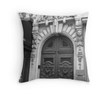 Paris Doorway Throw Pillow