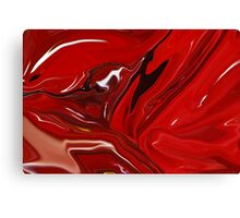 RED CRANBERRY ABSTRACT Canvas Print