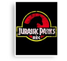Jurassic Parks and Rec Distressed  Canvas Print
